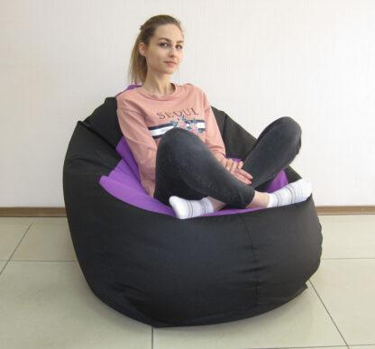 кресло груша черное Mypufik