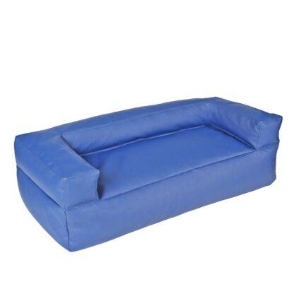 Диван бескаркасный синий